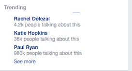 Trending on FB